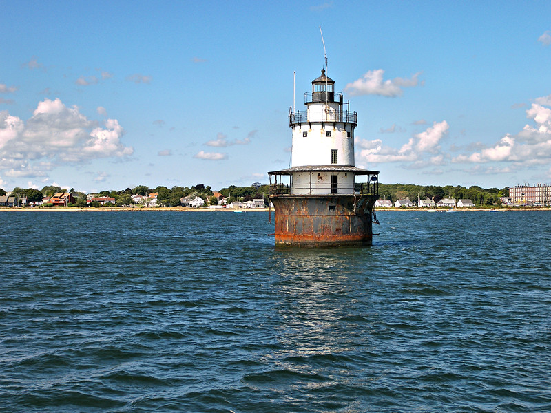 Several restoration projects during the 1990's helped preserve and secure the lighthouse.  On April 30, 1998 a ceremony was held in recognition of the lights 100th birthday and the tower was relit via a submarine cable.  The lighthouse was auctioned by the federal government and sold in 2015 to its new owner, Rob Draper for $80,000.  The lighthouse can be viewed from the New Bedford waterfront, or from the ferries to Martha's Vineyard which pass nearby.