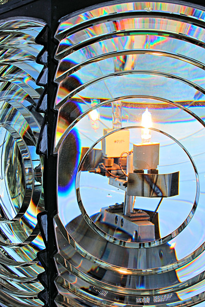 A view of the light inside the lens