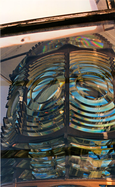 A new lantern was built and a 12 sided Second Order Fresnel lens was installed in the lantern.