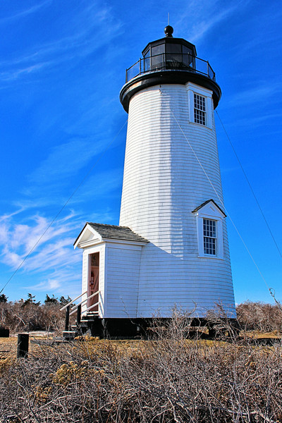 Thomas Jefferson appointed Matthew Mayhew as the first Keeper of the Cape Poge Light.  Mayhew lived in the 2-room dwelling with his wife and, eventually, eight children.  Martha's Vineyard's second lighthouse went into operation in December 1801.