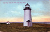 Old postcard view of the Cape Poge Lighthouse