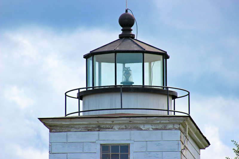 Restoration work was carried out in the winter of 2000.  The lantern was repaired at the nearby waste water facility while City crews rebuilt the wooden portion of the lighthouse.  The hard work paid off with the relighting of the Clark's Point Lighthouse on its 132nd anniversary, June 15, 2001.  People today can view the Clark's Point Light while visiting Fort Taber Park.