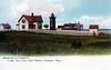 A old postcard view of the East Chop Lighthouse Station when it was known as the 'Chocolate Lighthouse'