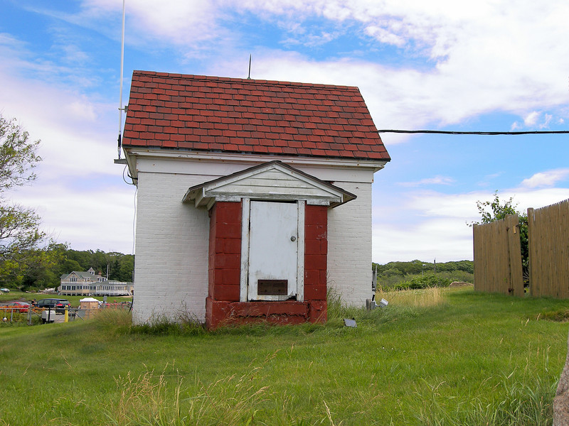 An oil house was built in 1894 to store the flammable kerosene used for the lamps.