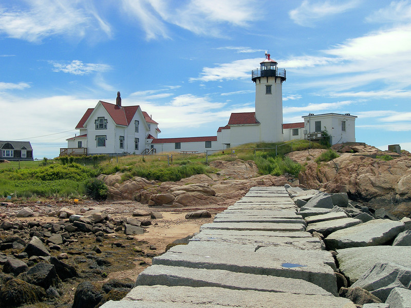 Congress was finally able to push through an appropriation to build the Eastern Point Lighthouse in 1831.  Samuel Friend was contracted to convert the stone daymark into a lighthouse, however the conversion would prove to be troublesome in the following years.