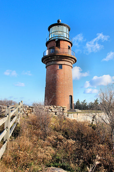 The work was completed in 1856 and the new lamp was lighted on December 1. This continues to serve as the current Gay Head Light tower.