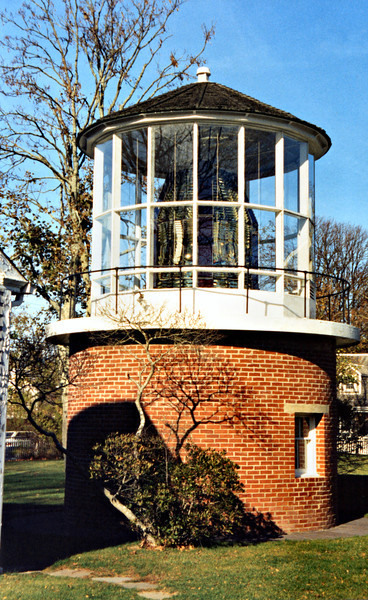 The First Order lens was on display in a replica tower in Edgartown at the Martha's Vineyard Historical Society until 2018. The lens was removed when the tower was automated in 1956.  The lens was moved to the Marthas Vineyard Museum in Vineyard Haven in 2018.