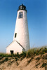 In 1857 as part of the Lighthouse Board's effort to improve the nation's lights, the lantern received a Third Order Fresnel lens, the inside of the tower was lined with brick and an iron staircase was installed.