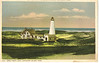 An old Detriot Publishing postcard view of the Great Point Light Station. I was able to acquire a bunch of these from an old store on Steamboat Wharf.