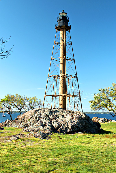 The first Keeper assigned to Marblehead Light was Ezekiel Darling, who had served as a gunner on the U.S.S. Constitution.  Darling lit the oil lamps in the tower for the first time on October 10, 1835.  Darling received a lifesaving medal from the Massachusetts Humane Society for rescues performed during his tenure.