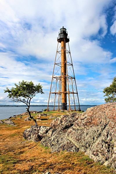 In 1834 Congress approved the construction of a lighthouse on Marblehead Neck and appropriated $4,500 for the project.  A farmer named Ephraim Brown owned the land at Marblehead Neck and did not wish to sell a parcel to the government.  Eventually he was persuaded to sell 4 acres of his land for $375.
