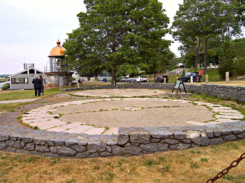 These rings found on Government Island in Cohasset were used by the masons to measure and cut the granite blocks for the tower. They were then moved by a team of oxen to a boat for transport to the Ledge.