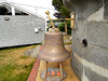 The lighthouse station's fog bell which was saved and restored by a local fisherman. It is now on display at the replica lantern on Government Island.