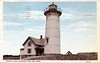 Old postcard view of the new Nauset Lighthouse in 1923 before the red & white daymark was painted in 1940