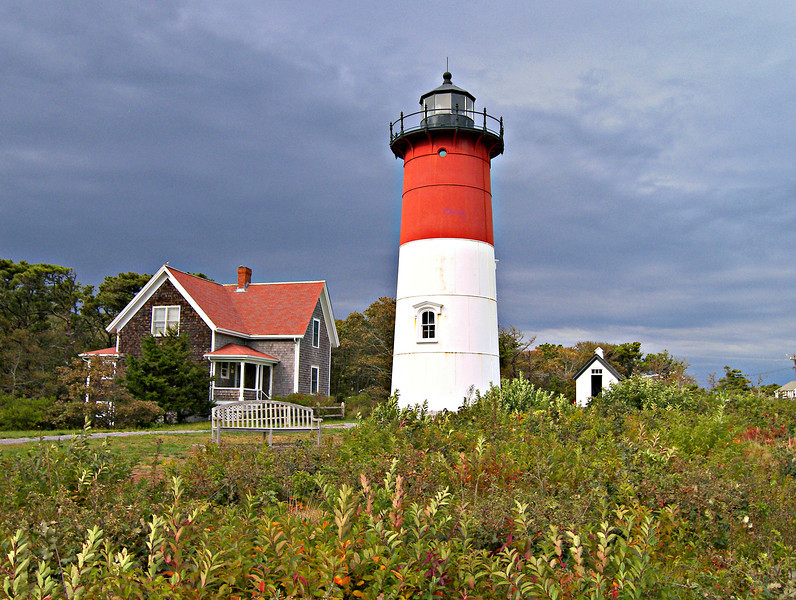 The new tower for the Nauset Light Station would be a 48 foot brick-lined iron tower.  In the early 20th century the Lighthouse Service decided to consolidate most of their multiple lighthouse stations to one tower.  One of these locations was the twin light station in Chatham just south of Nauset.