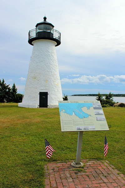 "In March 1837 Congress appropriated a sum of $5,000 for the building of a light station on Buzzards Bay, Massachusetts.  Barnabas Hiller sold a four acre plot of land known as ""Ned's Point"" at the entrance of a commodious harbor for $240 to the Federal government.  The land received its name from a former owner, farmer Edwin ""Ned"" Dexter."