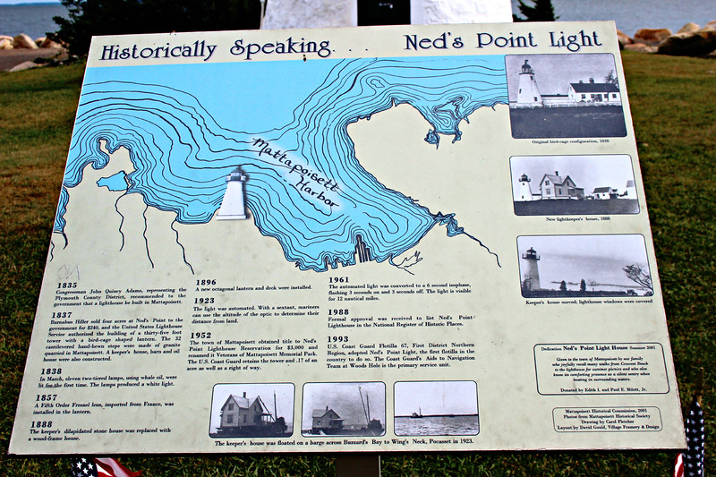 Construction of the Ned's Point Lighthouse fell behind schedule and when a lighthouse inspector came to check on its progress, Uncle Leonard hatched a plan.  He took the inspector to his tavern and plied him with drink.  He also instructed his workers to lay boards across the tops of barrels set in the basement of the dwelling to simulate a finished floor.  When Leonard and the inspector arrived at the station, the tipsy inspector stepped on one of the boards.  It flew into the air and deposited the inspector into the basement.  Those drinks must have been pretty good as Leonard kept the contract and eventually completed the contracted work.