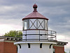 The front range light was a conical cast iron tower 14½ feet in height and 15 feet in diameter.   The lantern room was also constructed of cast iron and the tower's interior was lined with brick for added stability. The Front Range exhibited a fixed red light 25 feet above sea level.