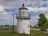 On April 5, 1873 the government purchased two parcels of land from the owners of Bayley's Wharf along the Merrimac River.  Construction of two range lights began immediately.