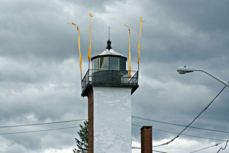 The rear range light exhibited a fixed green light 47 feet above sea level.