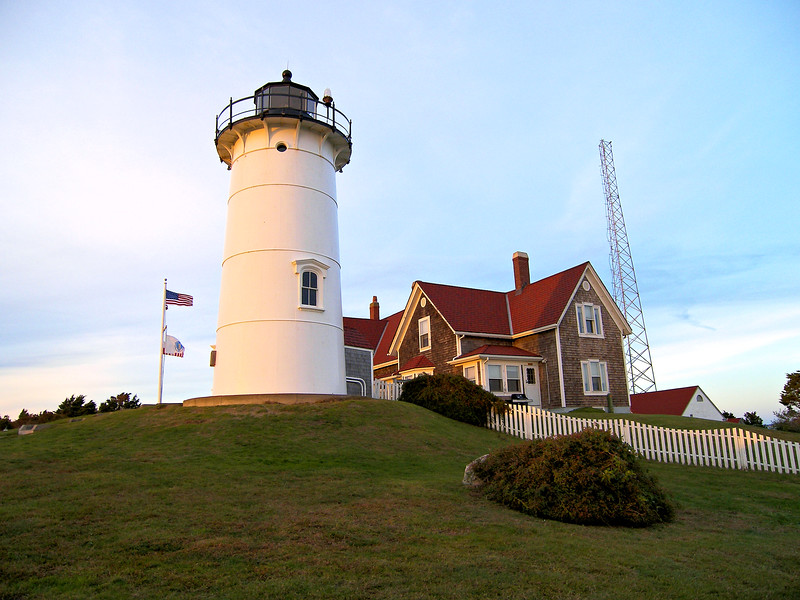 In 1876 the U.S. Light House Board contracted with an iron foundry in Chelsea to manufacture a four section metal tower.
