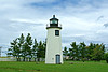 In 1838 Congress appropriated $4,000 for the rebuilding of the lighthouse towers, however files show that only $950 of the appropriation was used.  It would appear that the 1809 towers were repaired rather than replaced, especially since an 1842 inspection by I.W.P Lewis found them to be 'dilapidated, leaky, and out of position to the bar channel'.  The inspection report stated the lanterns contained 8 oil lamps with 12 inch reflectors.