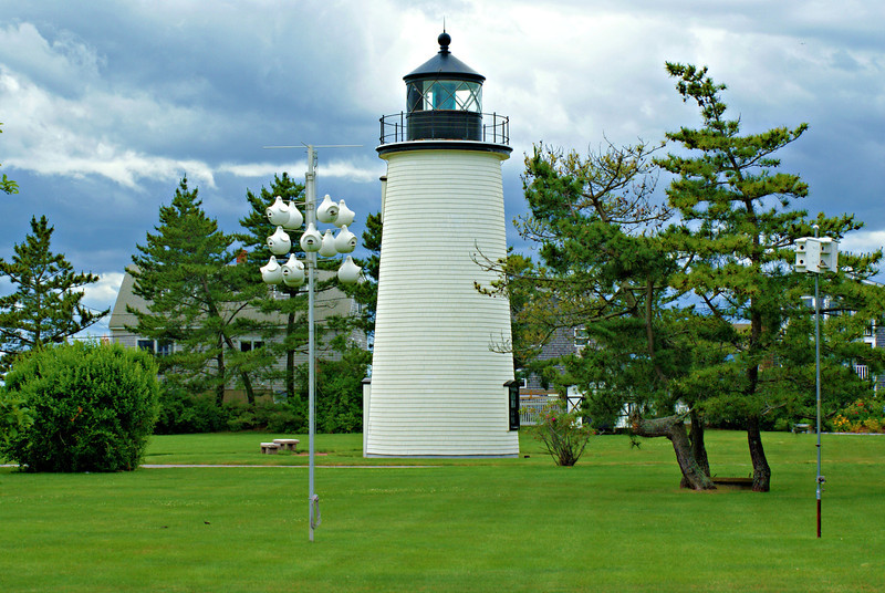 In 1872 a new 2 story Victorian wood framed Keepers dwelling was added to the station.  In 1890 the Bug Light was discontinued and no longer functioned as the Front Range light.  After 100 years as a twin light station the Plum Island Light Station became home to a single light.