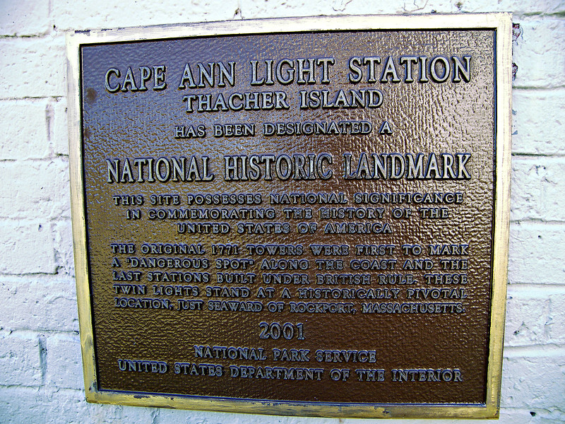 In January 2001 the Cape Ann Light Station was designated a National Historic Landmark becoming only the ninth light station to receive this honor.