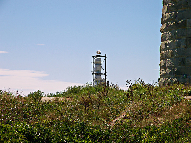 The current fog signal used at Thacher Island is an FA232 horn located next to the South Tower.