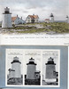Old postcard views of the Three Sisters of Nauset Lighthouses