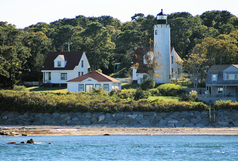 In 1846 it was decided to rebuild the lighthouse and dwelling 975 feet from the original location.  The original Keepers house was given to James West's son who had it moved to West Tisbury.  The new lighthouse was a round stone tower and the dwelling was a stone Cape Cod style home.