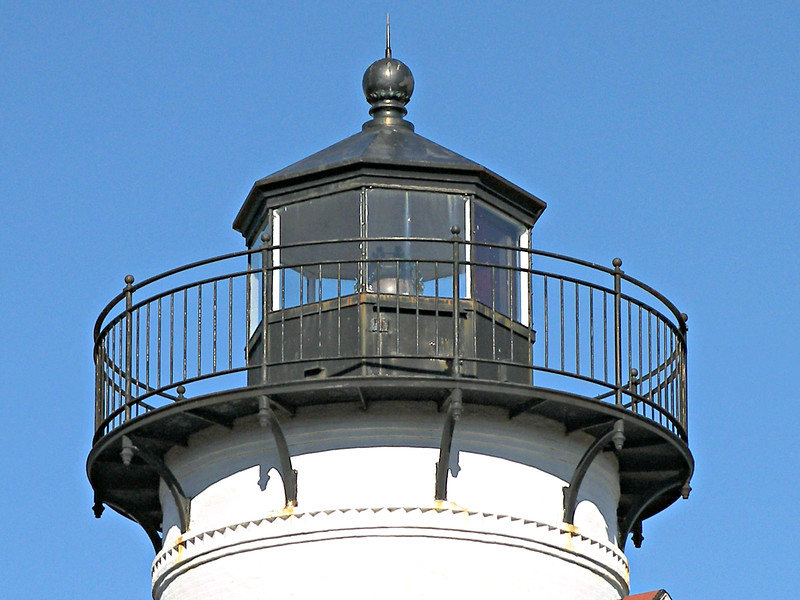 In 1857 the lamps and reflectors in the lantern were replaced by a 4th Order Fresnel lens.