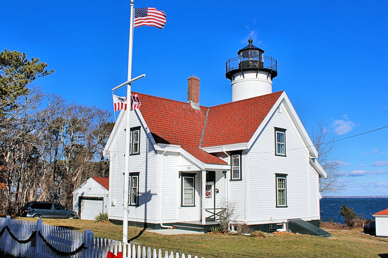 Although Vineyard Haven (formerly known as Holmes Hole) was the busiest port on Martha's Vineyard the first lighthouses in the area were built on Cape Poge in 1801 to guide shipping to Edgartown and at Tarpaulin Cove where the government decided to replace a privately maintained light.