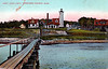 Old postcard view of the West Chop Lighthouse station
