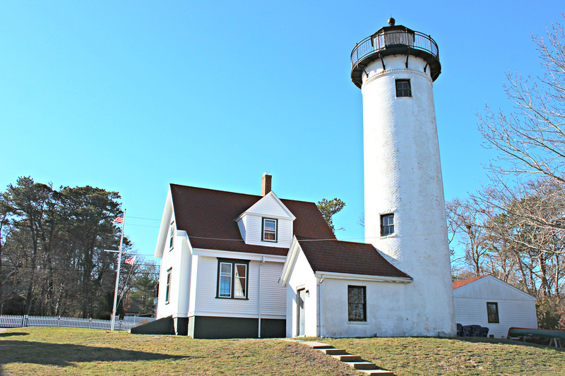 Citizens of Holmes Hole petitioned their Congressman to have a lighthouse established to mark their busy harbor.  Congress appropriated $5,000 in March 1817 to erect a lighthouse to help shipping navigating through Vineyard Sound and entering Holmes Hole Harbor.