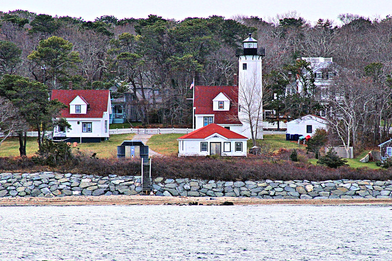 The harbor was protected by two long peninsulas on each side known as the 'East Chop' and 'West Chop'.  Four acres at the end of the West Chop were purchased for $225 by the government for the lighthouse reservation.
