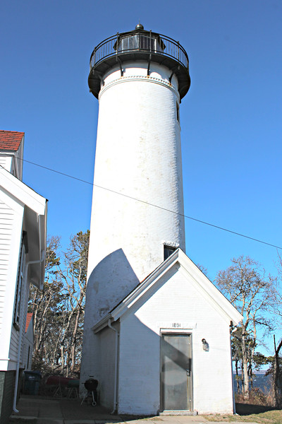 The grounds of the West Chop Lighthouse are closed to the public, but can be viewed easily from the road.