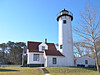 A lighthouse tower 25 feet tall was erected of rubblestone and topped with an octagonal iron lantern.  It sat 60 feet above sea level.  Also built was a stone dwelling for the Keeper which measured 34 feet by 20 feet.  The station was completed in October 1817.