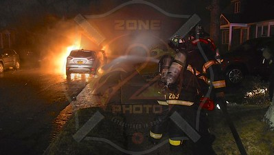 Massapequa F.D. Multiple Car Fires 25 New Hampshire Ave. 2/25/16