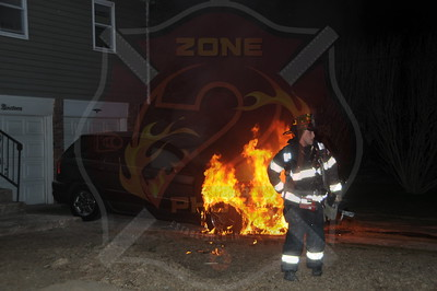 Massapequa F.D. Car Fire 19 Stone Blvd. 4/25/14
