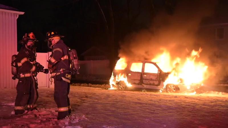 Massapequa Car Fire- Paul Mazza
