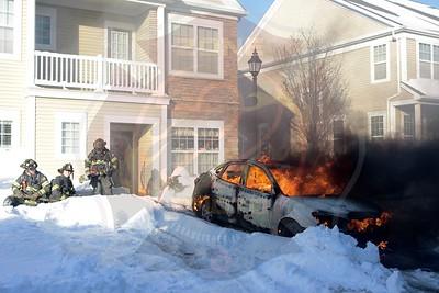 Massapequa F.D.  Car Fire   Southampton Dr.  1/5/18