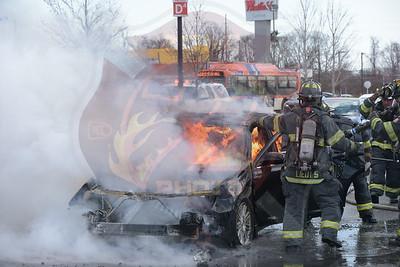Massapequa F.D. Car Fire   Westfield Mall 4/5/18