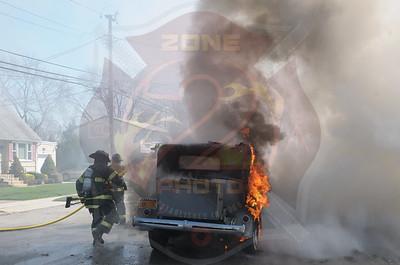 Massapequa F.D. Multiple Car Fires 291 Pacific St. 4/25/15