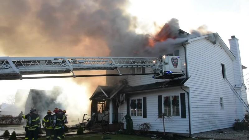 Massapequa Two Houses on Fire- Paul Mazza