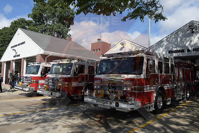 Massapequa F.D.  Triple Wet Down For Engines 6311, 6314 and 6315  Pierce Velocity's  Hosted by Engine & Hose Co.5      9/17/16