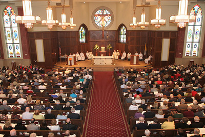 Over 100 couples celebrating 50 and 60 years of marriage were on hand for the Oct. 2 Mass. Archbishop Wilton D. Gregory was the main celebrant and homilist for the liturgy.