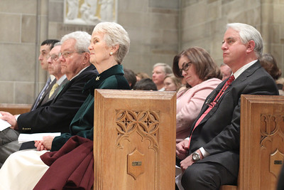 (From top left) Michael Trujillo, his father Raul, Fred and Barbara Johansen, and Tricia and Joe Ward join the rest of the congregation on hand for the special liturgy marking the Cathedral of Christ the King's 75th anniversary.