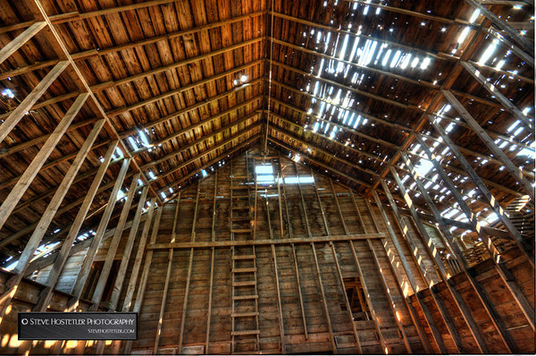 The Interior of a 90(ish) year old barn near Estherville, Iowa, September 2013.