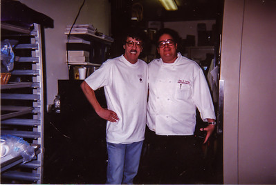 Chef Jean Louis Palladin (of Jean Louis at Watergate Hotel) and Chef Petey